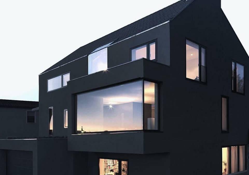 Hiše, posebej narejene za tiste, ki obožujejo črno barvo